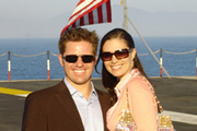 Anthony and Ashley aboard the USS Ronald Reagan